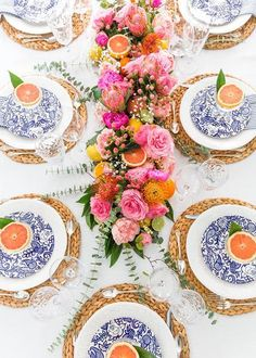 Fruit Florals Table Setting.