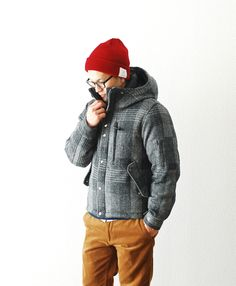 North Face Purple Label - Harris Tweed down jacket