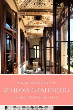 Eine Stunde von Wien entfernt liegt mit dem Schloss Grafenegg nicht nur das schönste Schloss des romantischen Historismus. Im Sommer findet man mit dem Wolkenturm hier auch die schönste Freilichtbühne Österreichs. Heart Of Europe, Backdrops, Castles, Travel Inspiration, Clouds, Summer Recipes