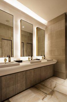 commercial toilet design best restroom design ideas on Commercial Interior Design, Interior Design Companies, Office Interior Design, Bathroom Interior Design, Simple Interior, Office Designs, Office Bathroom, Bathroom Layout, Small Bathroom