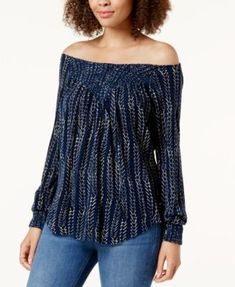 0a7ac7a0d10ee Lucky Brand Convertible Off-The-Shoulder Top   Reviews - Tops - Women -  Macy s