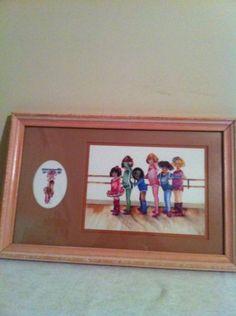 Ballet Picture Little Girls Home Interior Vintage