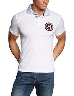 Tommy Hilfiger Herren Poloshirt BRADY POLO S S SF, Einfarbig, Gr. Large, Weiß (CLASSIC WHITE 100)