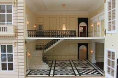 Bespoke grand 1920s dolls house hotel foyer.