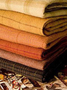 Blankets... lovely colours.