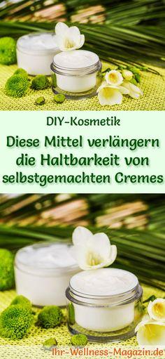 Konservierende Zutaten, die die Haltbarkeit von Cremes verlängern: Mit diesen Stoffen hält sich Ihre selbst gemachte Creme länger. Die wichtigsten Konservierungsmittel für Naturkosmetik ...