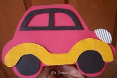 Cards ,Crafts and Kids Projects: Car Shaped Card