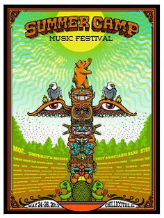 Mudhoney & Summer Camp Music Festival Posters by Matt Leunig On Sale