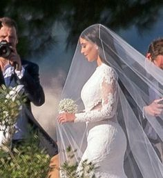 Kim Kardashian wore a Givenchy Haute Couture Gown for Kanye West Wedding
