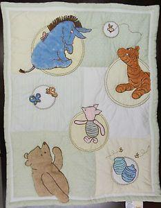 Classic Winnie The Pooh Nursery   CLASSIC-POOH-Baby-Comforter-Crib-Blanket-Wall-Hanging-Tigger-Piglet ...