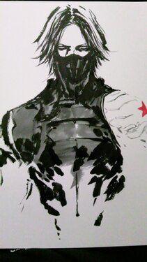 Ink + Winter Soldier via Shirow Miwa