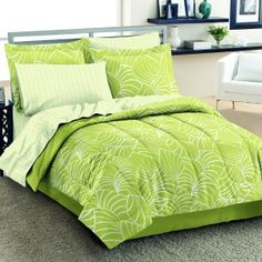 green comforters Green on Lime Green Bedding Lime Green