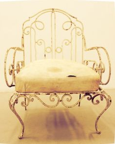 Garden chair, wrought iron, early 1900s, Southern Europe