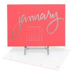 Bright Desk Calendar