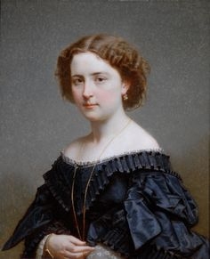 Portrait of a Lady in Black by Lecat, 1862 France, the Bowes Museum