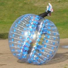 Holleywebtm Blue Bubble Soccer Ball Dia 5' (1.5M) Human Inflatable Bumper Bubble Balls, 2015 Amazon Top Rated Beach Balls #Toy