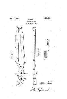 Patent US1469696 - Combination tool - Google Patents