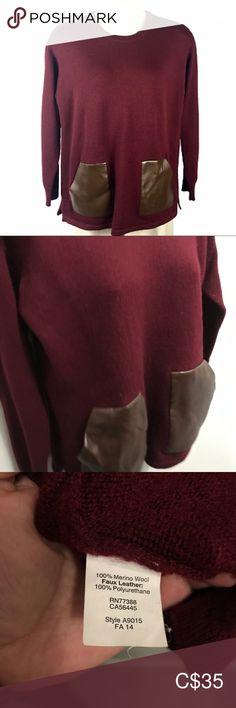 JCrew Factory Merino Wool Tunic Merino wool sweater Faux leather pockets Great worn condition J. Merino Wool Sweater, Wool Sweaters, Plus Fashion, Fashion Tips, Fashion Trends, J Crew, Sweaters For Women, Tunic, Pockets