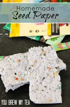 Check out this great Homemade Seed Paper!  Perfect Homeschool project for recycling!