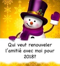Bonne année 2018 image #4155 - Qui veut renouveler l'amitié avec moi pour 2018? - Partager cette photo sur Facebook, Twitter et WhatsApp.