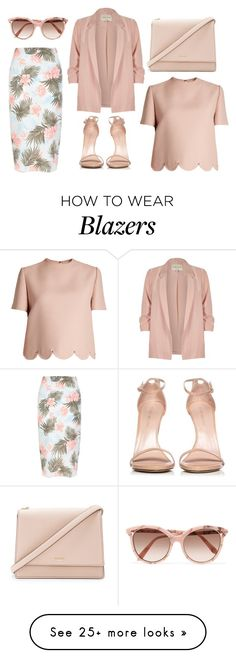 """""""Classy"""" by barbtolo on Polyvore featuring Stuart Weitzman, Valentino, New Look, Kate Spade, Victoria Beckham and River Island"""