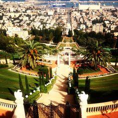 The Bahá'í Gardens in Haifa, Israel. http://instagram.com/p/wwTrUWKuRM/