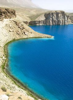 Beautiful waters of Band-e Amir Lakes, Afghanistan's first national park