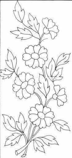 Grand Sewing Embroidery Designs At Home Ideas. Beauteous Finished Sewing Embroidery Designs At Home Ideas. Hand Embroidery Patterns, Applique Patterns, Ribbon Embroidery, Embroidery Stitches, Embroidery Dress, Indian Embroidery, Doily Patterns, Flower Patterns, Dress Patterns