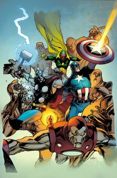The Avengers by Leinil Yu, colours by Jason Keith