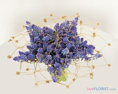 Muscari and wire bouquet