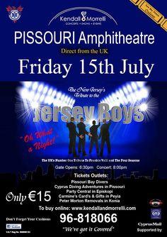 Jersey Boys, Pissouri Amphitheatre, Friday 15 July #jerseyboys #pissouriamphitheatre #cyprusevent https://plus.google.com/+PissouribayCyp/posts/EyKtGYgXAuP