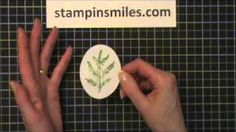 Wet Paper Stamping Technique, via YouTube.