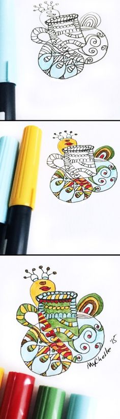 Keep your coffee black and your mornings in color.  Doodled Life - A coloring journal of everyday kitchen things
