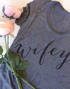 wifey tee - Morning of and day before wedding tee! Wedding Wishes, Wedding Bells, Our Wedding, Dream Wedding, Wedding Stuff, Camo Wedding, Nautical Wedding, Wedding Gifts, I Got Married
