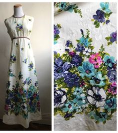 A personal favorite from my Etsy shop https://www.etsy.com/listing/531853687/vintage-boho-long-hippie-dress-60s-70s