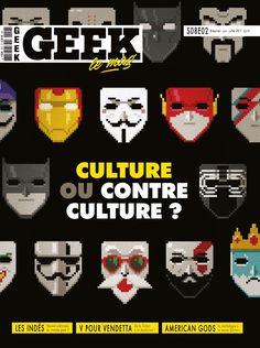 Geek Magazine - N° 18 - Juin-Juillet 2017 V Pour Vendetta, Geek Magazine, American Gods, Fiction, Geek Stuff, Movie Posters, June, Mythology, Geek Things