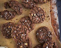 Disse sjokoladekjeksene er en perfekt miks av søtt og salt, og seigt og sprøtt.