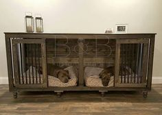 Genial Some Of Our Newest Doggie Den Family Members! Dog Crate Furniture, Dog Crate  Table