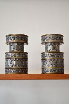 """Pair of Hand Hammered Candle Holders by Gene Byron Measure 6"""" H x 3.5"""" Diameter"""