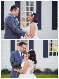 First look photos at The Milestone Aubrey Wedding by brittanybarclay.com