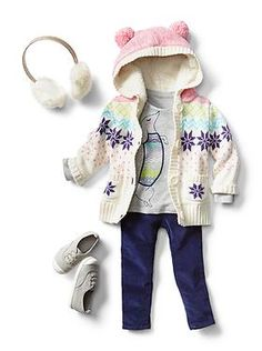 Love this outfit!   Baby Clothing: Toddler Girl Clothing: Winter Layers New Arrivals   Gap