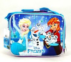 Disney Frozen Elsa Girls School Lunch Box Bag Snack Thermos Insulate Gift Toy