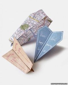 DIY paper airplane cards - so cute for Father's Day.