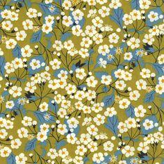Mitsi Lime Green Liberty of London Tana Lawn Fabric Fat Quarter. $8,75, via Etsy.