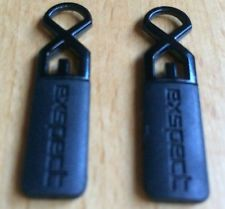 Two 2 x Replacement Zipper Pulls with Metal Eyelets to Repair Broken Zip Puller