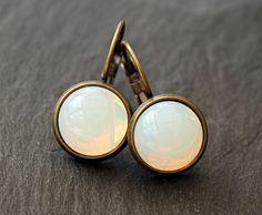Vintage Glas Ohrhänger * Mondgöttin *  von JanoschDesigns auf DaWanda.com