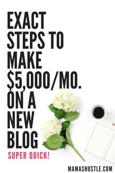 Exact Steps to Make $5,000/month on a New Blog | mamashustle.com