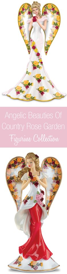 As fresh as a country garden, these collectible angel figurines are just heavenly!