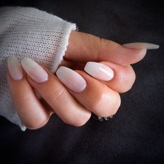 my new nails <3 transparent nude | square ~ nail art