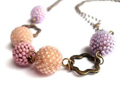Caliope's caprice: Romantic beaded beads necklace
